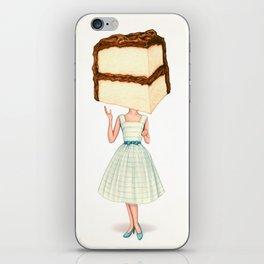 Cake Head Pin-Up - Chocolate iPhone Skin