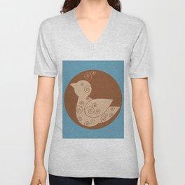 Spiral Bird Unisex V-Neck