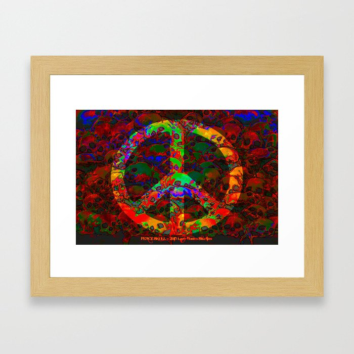PEACE SKULLS Framed Art Print