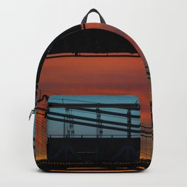 Sunset over New York City Bridge (Color) Backpack
