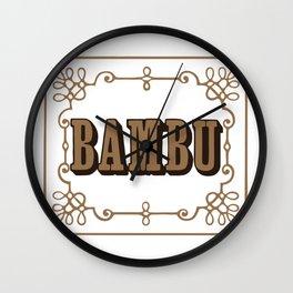 BAMBU 2 rolling papers Wall Clock