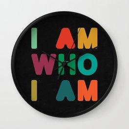 I am who I am Wall Clock