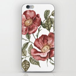 Red Floral Painting iPhone Skin