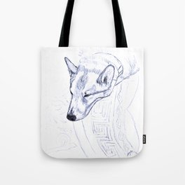 Tristan in Blue Tote Bag