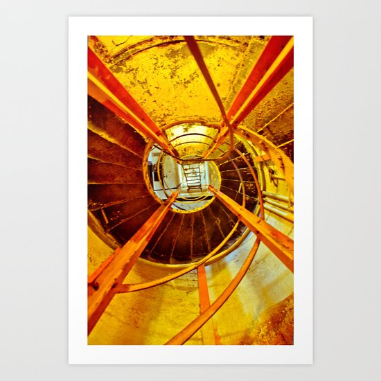 Diamond Head Stairs Art Print