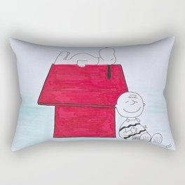 Charlie Brown and Snoopy Rectangular Pillow