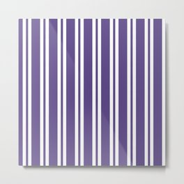 Ultra Violet Wide/Small/Wide Stripes Metal Print