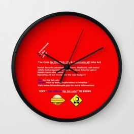 Fair and Simple GOP Wall Clock