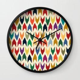 christmas arrows ivory Wall Clock