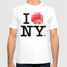 Censored Love SMALL White Mens Fitted Tee