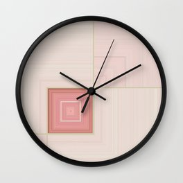 Pastel Pinks and Mints Pattern Design Wall Clock