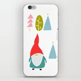 Christmas gnome iPhone Skin