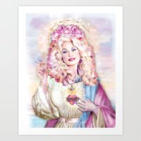 dolly parton Art Prints featuring Saint Dolly Parton  by DirtyLola