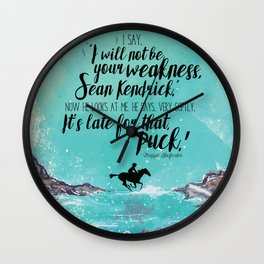 The Scorpio Races - Weakness design Wall Clock