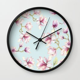 Delicate Magnolia Wall Clock