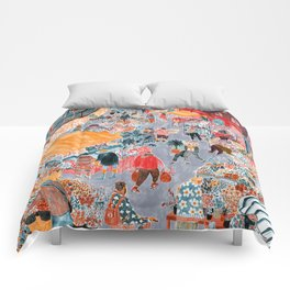 Columbia Road Flower Market Comforters