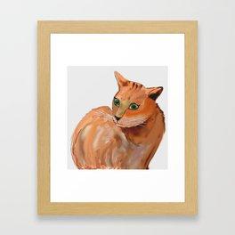 Katze,cat Framed Art Print
