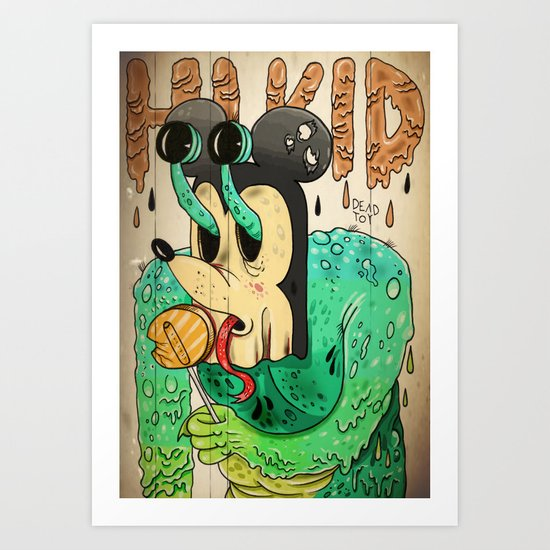 Strangers have the best candy Art Print
