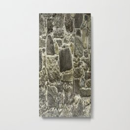 Weathered Stone Wall rustic decor Metal Print