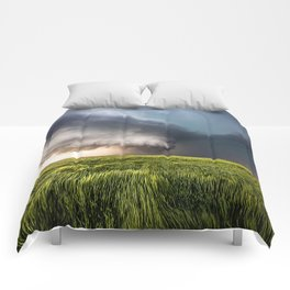 Leoti's Masterpiece - Incredible Storm in Western Kansas Comforters