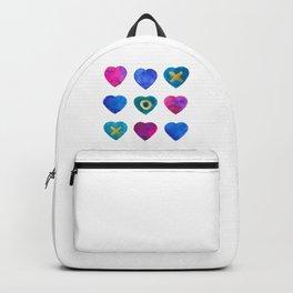Tic Tac Toe hearts Backpack