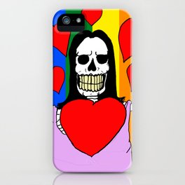 LOVE IS LOVE! (SKULL LADY) iPhone Case