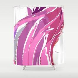 Purple Waves Shower Curtain