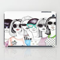 sunglasses iPad Cases featuring sunglasses by Emily Tumen