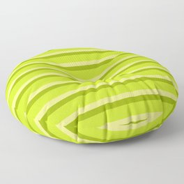 Lime Green Stripes Floor Pillow