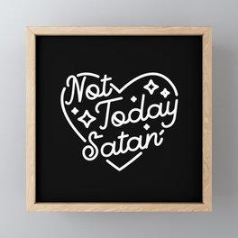 not today satan (b&w) Framed Mini Art Print
