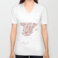spain V-neck T-shirts featuring Spain by eneasmarin