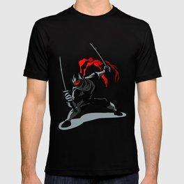 cartoon ninja in action T-shirt