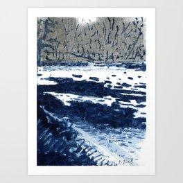 Charles River, Ice Art Print