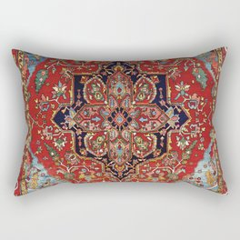 Heriz  Antique Persian Rug Print Rectangular Pillow