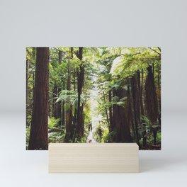 Rotorua red woods Mini Art Print