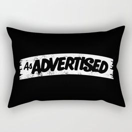 As Advertised - White Rectangular Pillow