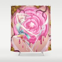 steven universe Shower Curtains featuring Steven Universe - Dancing Pearl by Nickol Martin