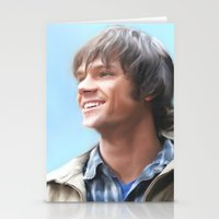 sam winchester Stationery Cards featuring Sam Winchester Pastel by Kaye Pyle