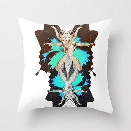 Femme Fatale Dancing - Butterfly Goddess Throw Pillow