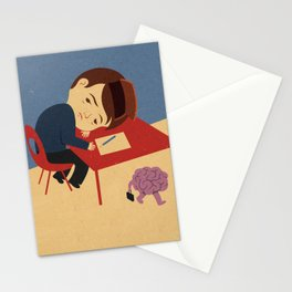 absent brain Stationery Cards