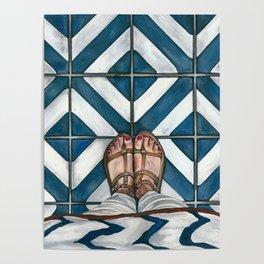 Art Beneath Our Feet - Cabarita Beach, Australia Poster