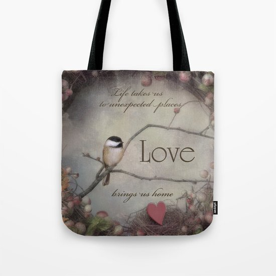 Life Love Home Tote Bag