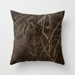 Caught in a strange World Throw Pillow