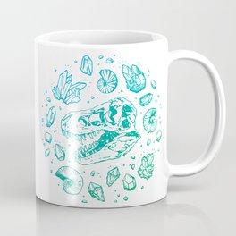 Geo-rex Vortex | Turquoise Ombré Coffee Mug
