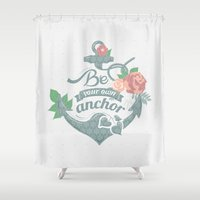 anchor Shower Curtains featuring Anchor by siny