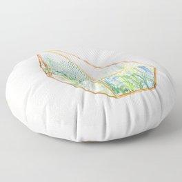 Terrarium Garden I Floor Pillow