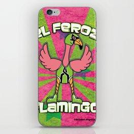 Luchamals- El Feroz Flamingo Lucha Poster iPhone Skin