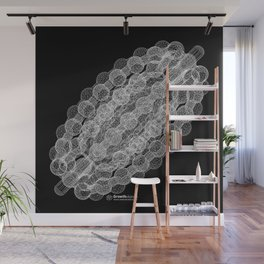 GEOMETRIC NATURE: COULOMB CRYSTAL b/w Wall Mural
