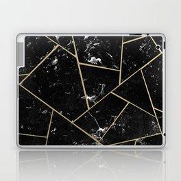 Black Marble Gold Geometric Glam #1 #geo #decor #art #society6 Laptop & iPad Skin