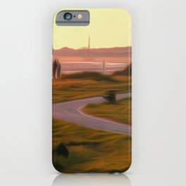 Walk along the coastal path iPhone Case